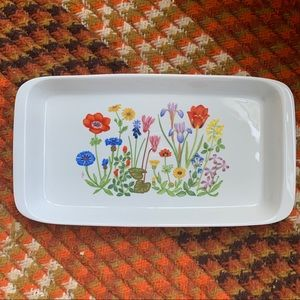 Other - Hand painted white Israeli porcelain serving dish